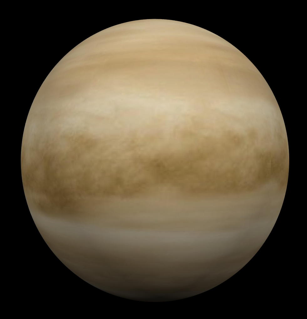 Above: the cloud-obscured orb of the planet Venus. The thick layer of ...: cronodon.com/PlanetTech/Venus.html