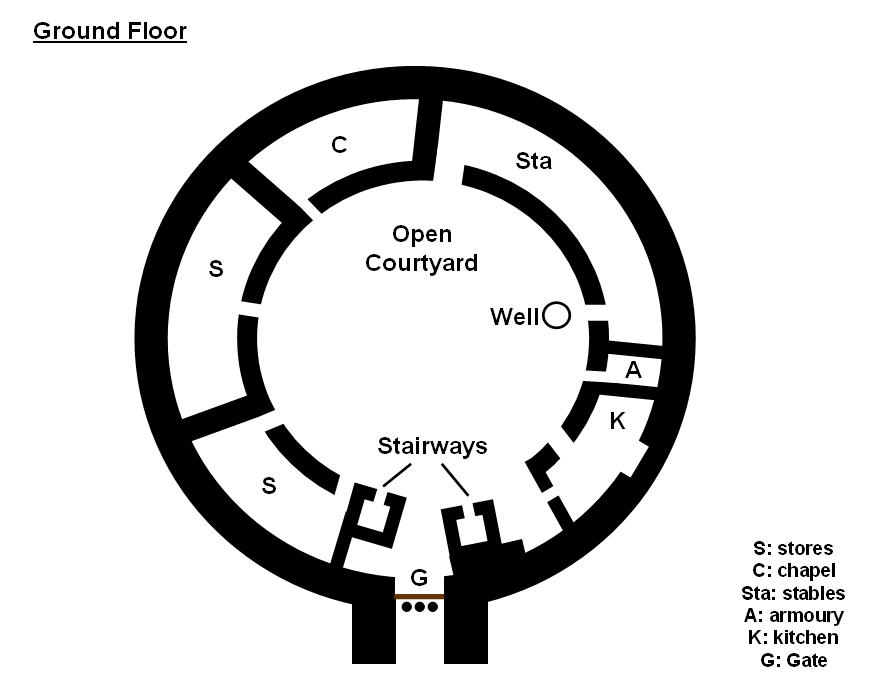 Fantasy Castle Floor Plans http://cronodon.com/RPG_Resources/Castle.html