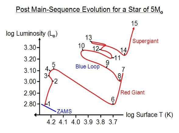 Late evolution of a heavy star