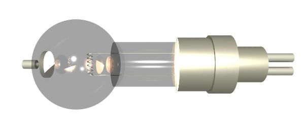 Thermionic emission tube on