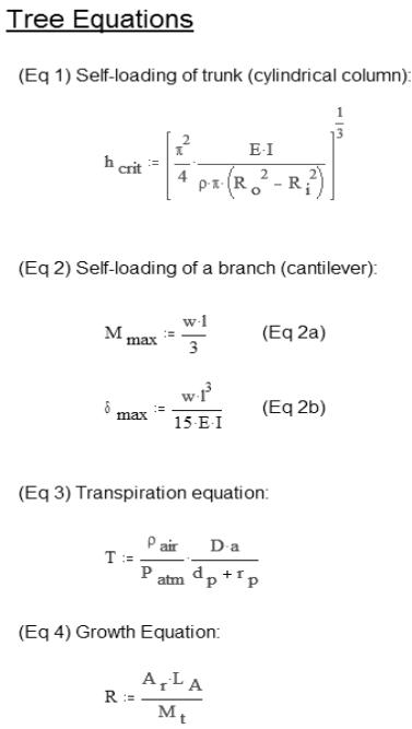 Tree equations