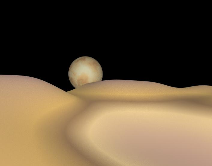 Pluto and Charon pov-Ray model